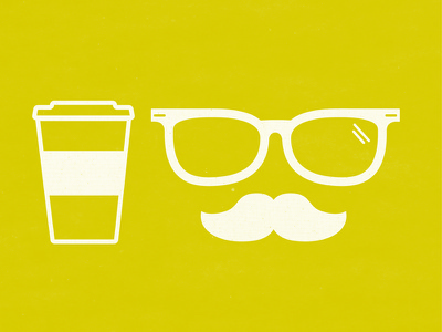 Hipster Icon coffee mustache glasses hipster