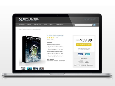 Dry Case Product Page- WIP e-commerce product sales dry case clean grey blue yellow