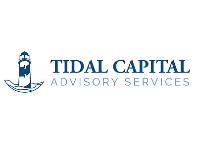 Tidal Capital Logo (concept 2) lighthouse blue navy logo nautical