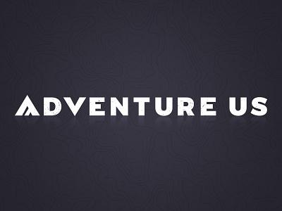 Adventure Us Logo wordmark website map mountain forest branding outdoor logo adventure