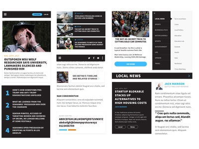 Newspaper site style concept mobile open sans styles mood board newspaper news modern bold