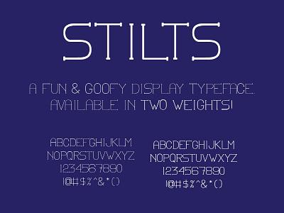 Stilts display type typography bold regular