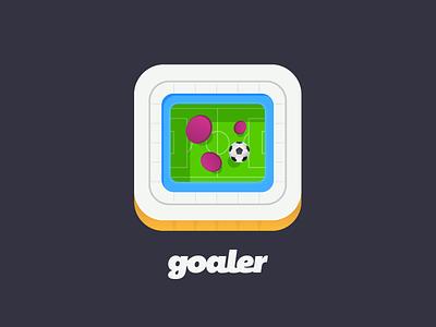 Goaler App Icon app icon flat football soccer game social interactive