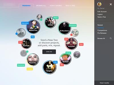 Music App music mp3 remix band web app ui ux