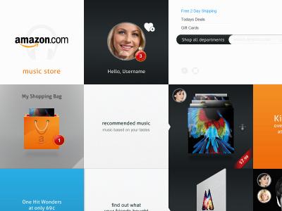 Amazon Concept web design interactive social media