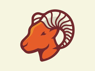 Ram icon vector logo branding outdoors nature antler horn animal animals park national rocky mountains ram