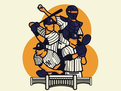 Yankees poster vector branding design illustration sports mlb baseball yankees new york