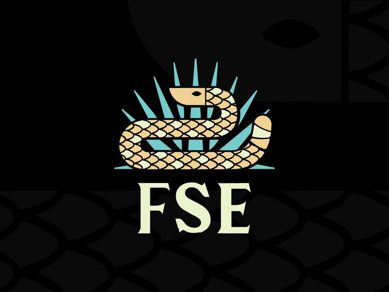 Florida Snake Eyes Logo vector diamondback rattlensake everglades palmetto palms palm simple design branding logo snake florida