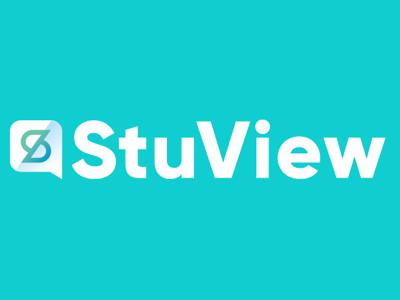 StuView icon education college social branding design logo