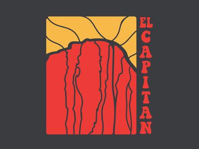 El Capitan design branding logo adventure outdoors mountains national parks el capitan yosemite climb rock rock climbing