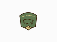 Yellowstone National Park Badge
