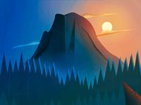 Half Dome Illustration