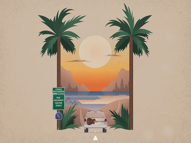 Album Cover reggae truck los angeles california sunset waves surfing palm trees west coast nature travel cover album