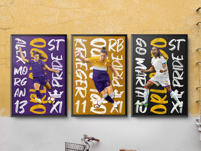 Orlando Pride Posters royal branding brush pride orlando typography poster futbol soccer