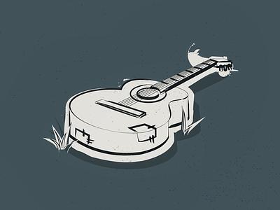 Guitar design simple beach music badge icon retro vector guitar