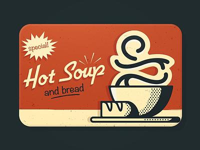 Panera Gift Card branding bold pop art comic simple vector flat panera illustration design retro