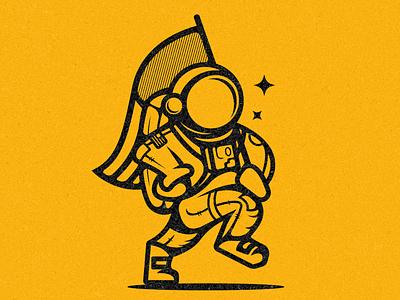 Astronaut galaxy apollo icon branding logo illustration america mascot moon space astronaut