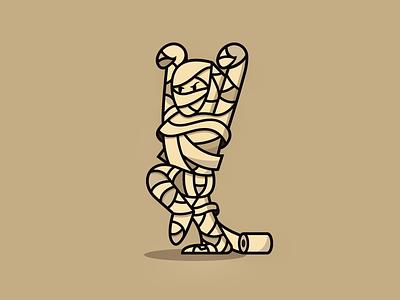 Halloween Monsters: Mummy ancient tomb branding design cute spooky monster illustration mummy logo halloween
