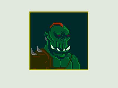 Thorlor The Orc game pixel art orc illustration drawing design character artwork 8bitart 8bit 64x64