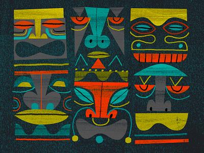 Tiki pattern pattern tiki
