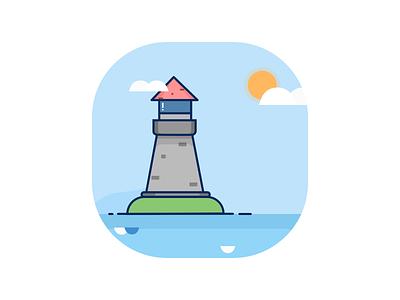 Lighthouse ocean bay day lighthouse