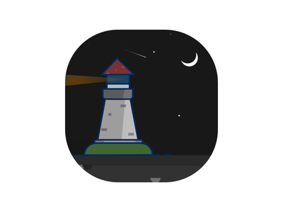 Lighthouse at night illustration night lighthouse
