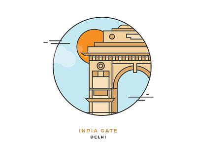 India Gate - Delhi minimal simplistic monuments indiagate gate iconart india delhi
