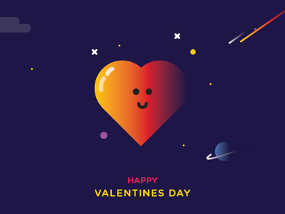 Valentines Day ! gradients planets comets space heart love valentine valentinesday