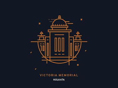 Vicotoria memorial Kolkata buildings india monument minimal iconography icondesign icon kolkata memorial victoria