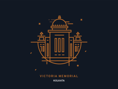 Vicotoria memorial Kolkata buildings india monument minimal iconography icondesign icon kolkata memorial victoria