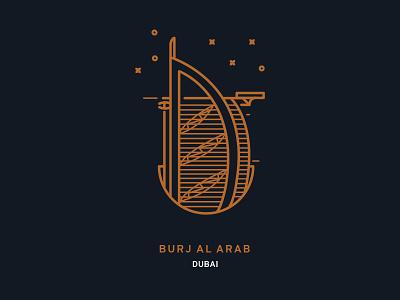 Dubai minimal arab al burj dubai icon city