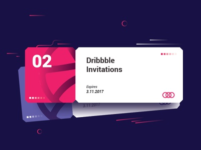 2x Invites coupons tickets dribbbleinvites dribbble giveaways invitations invites
