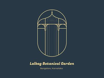 Lalbag Botanical Garden warmupchallenge logo minimaldesign city monument ux india design icon minimal dailyui