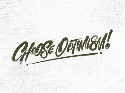 Optimism - Day in a Word ipad lettering procreate typography texture spray paint hand lettering daily lettering dayinaword