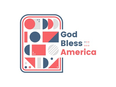 God Bless America abstract illustration figma patriotic bless god america independence day 4th of july
