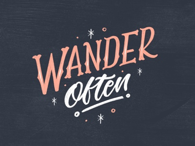 Wander Often vintage typography texture procreate lettering ipad lettering design brush