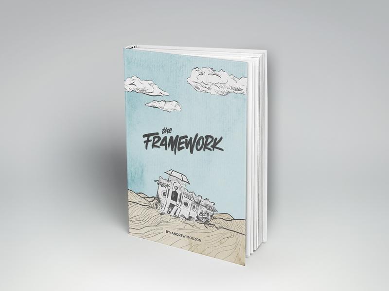 The Framework - Book Cover Design faith christian hand lettering texture vintage design book art lettering sketch brand book