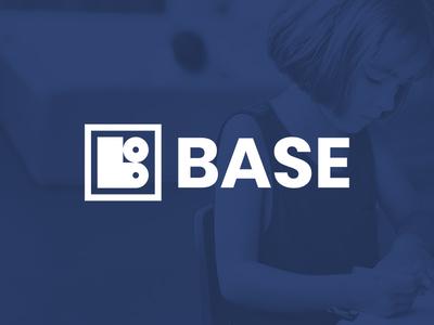 BASE Brand Design k12 school non-profit geometric modern minimal monogram logo