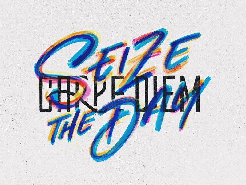 Seize your Friday! brush ipad lettering procreate hand lettering design lettering