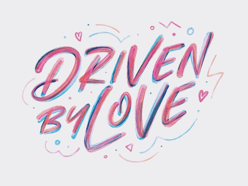 Driven By Love church design brush illustration church christian ipad lettering procreate hand lettering vintage design lettering