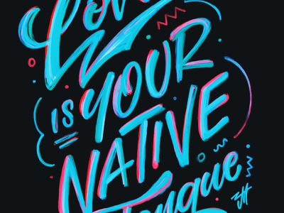 Native Tongue // Switchfoot band typography liquid paint hand lettering ipad lettering procreate brush lettering