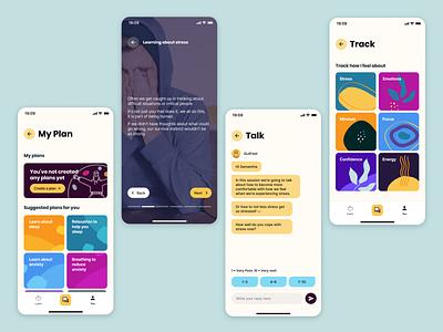 Mental Health App flat app health mental health chat