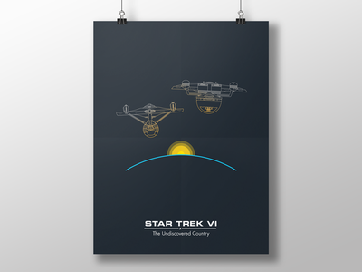 Trek Poster - ST6 vector poster simple ships star trek