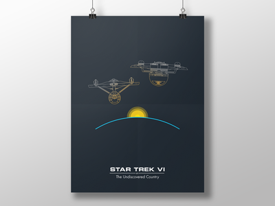 Trek Poster - ST6 vector poster simple ships star trek