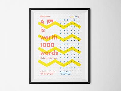 Icon set poster