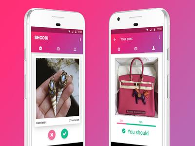 Shoodi MVP cards swipe decisions app