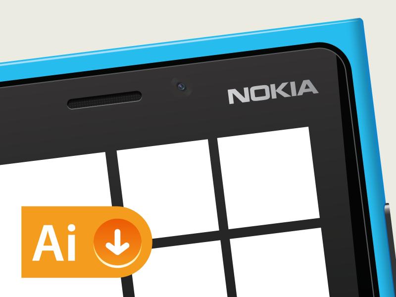 Nokia Lumia 920 - Vector Resource resources ai file illustrator vector resource template