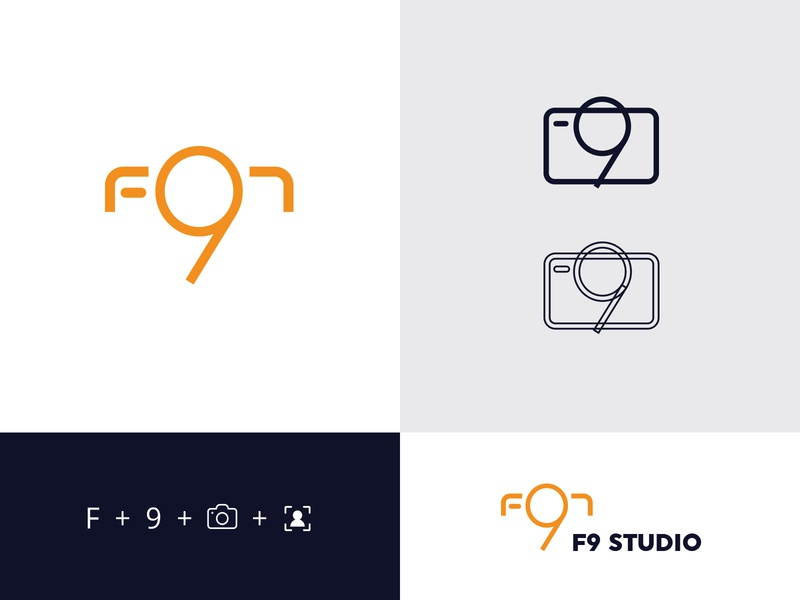 F9 photography logodesign identity design freelance concept brand identity ui vector typography type minimal lettering identity icon flat design clean branding logo