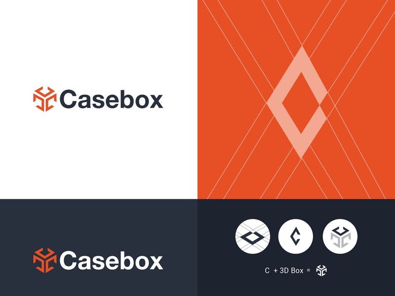 Casebox type typography illustration designer lettering identity design brand identity logodesign freelance concept vector minimal identity clean icon flat design branding logo