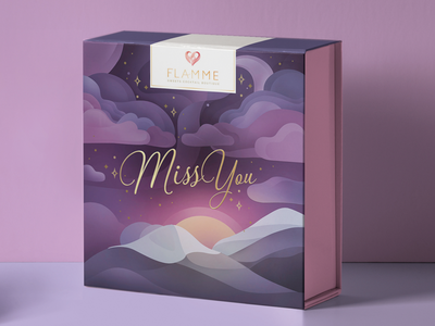 Flamme box abstract package sweets box